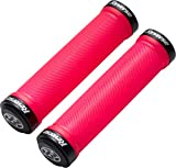 Reverse Grip Spin Lock-On Fahrrad Schraubgriffe neon rot/schwarz