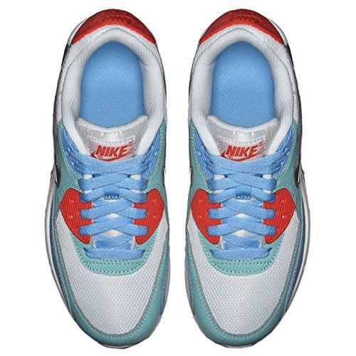 Nike Air Max 90 Mesh (GS) Women Schuhe white-metallic siver-lakeside-artisan teal – 38 - 4