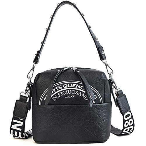 Handtaschen für Frauen PU Leder Damen Kleine Quadrat Platzen zu knacken, Licht Oberfläche Umhängetasche Fashion Tasche Casual & Arbeit,Black