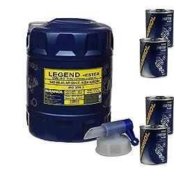 20L Motoröl MANNOL SAE 0W-40 LEGEND+ESTER 4x MANNOL Motor Flush ADDITIV