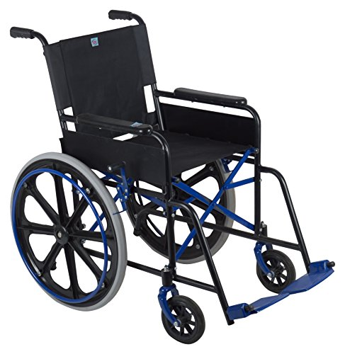 SOI Folding Wheel Chair - Black  available at amazon for Rs.4800