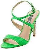 SJP by Sarah Jessica Parker Elektra, Sandales Bride Cheville Femme, Vert (Highlighter Green Suede), 35 EU