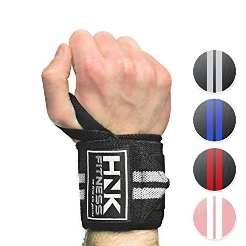 Handgelenkbandage [2er Set] Wrist Wraps 45cm - Profi Handgelenkstütze für Kraftsport, Bodybuilding, Gewichtheben & Crossfit - Fitness Bandagen - Handgelenkschoner für Frauen & Männer geeignet