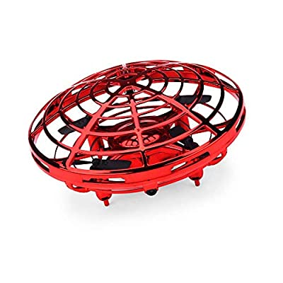 JYToyz Drones, Flying Ball Mini Drone Rechargeable Hand Controlled RC Drone Quadcopter with 2 Speed Models for Kids and Adults