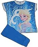 Disney Damen Frozen Let it Snow ELSA Schlafanzug Pyjama Set Gr. 34-36, blau