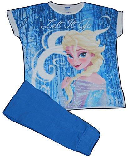 Disney Damen Frozen Let it Snow ELSA Schlafanzug Pyjama Set Gr. 34-36, blau (Für Frauen Frozen Pyjama)