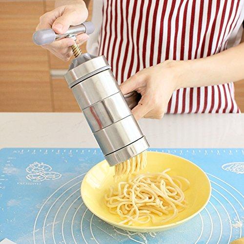 SL&MTJ Kleinen Nudelmaschine,Home Manuelle Handkurbel Pressmaschine Edelstahl Manuelle Handkurbel Handkurbel Extruder Pasta Maker
