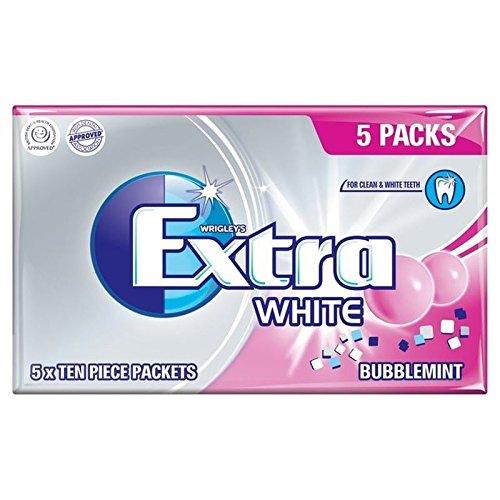 Supplémentaire Bubblemint Blanc De Wrigley 5 Par Paquet - Paquet de 6