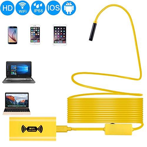 Preisvergleich Produktbild Wireless Endoskop, Yoport 1600x 1200p depstech WiFi Endoskop–3,5m Kabel IP68wasserdichte halbstarr Inspektion Kamera–2.0Megapixel CMOS Schlange Kamera für Android/iOS/Windows/Mac