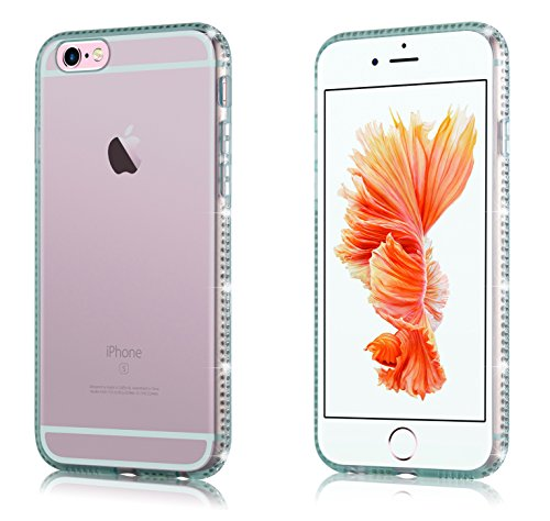 Cadorabo - Ultra Slim TPU Diamant Fantaisie Etui Housse Gel (silicone) pour Apple iPhone 6 / 6S - Coque Case Cover Bumper en DIAMANT-VIOLETS Vert