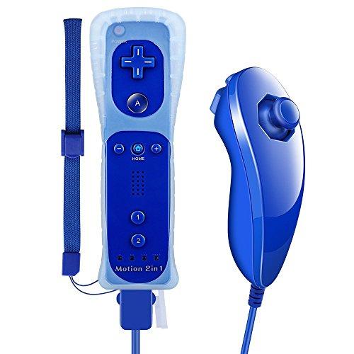 AMGGLOBAL Integriert in Motion Plus Fernbedienung Nunchuk Controller Für Nintendo WII Fern WII +...