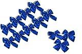 * 12er Set metallic Zierschleifen Schleifen Weihnachtsbaum-Deko Weihnachtsdeko Gesteckdeko aus 4 Farben wählbar (metallic-blau)