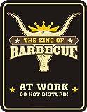 Original RAHMENLOS® BBQ Blechschild für den Grill Chef: King of Barbecue 3654