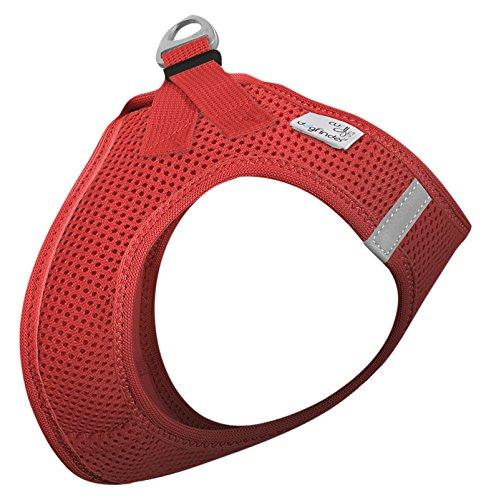 CURLI Brustgeschirr Plush Vest AIR-MESH red für Hunde L (46 - 52 cm)