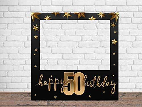 Photocall Feliz 50 Cumpleaños Estrellas 100 x100