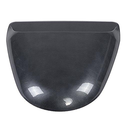 Vent Abdeckung Haube (Qiilu Universal Car Dekorative Kohlefaser Look Air Flow Intake Scoop Motorhaube Vent Abdeckung Haube)