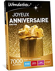 Wonderbox - Coffret cadeau - JOYEUX ANNIVERSAIRE - émotion