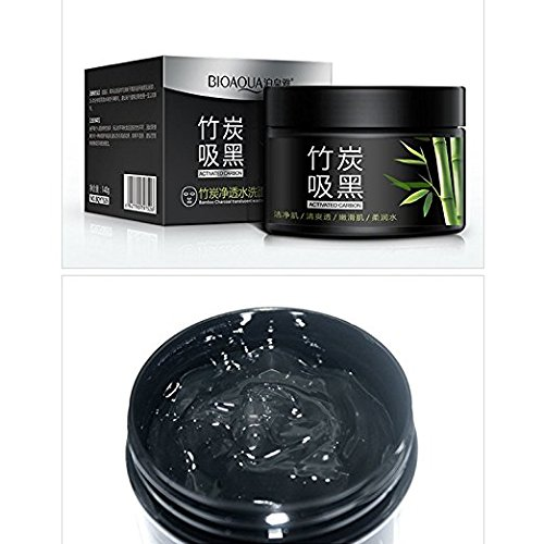 Blackhead Remover / Bamboo Charcoal Translucent Formula - Removes Acne - Oily Skin & Anti Aging Treatment mask - Deep Cleansing Facial Mud Face Mask