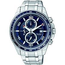 Citizen Super Titanium CA0345-51L - Reloj cronógrafo de cuarzo para hombre, correa de titanio color plateado