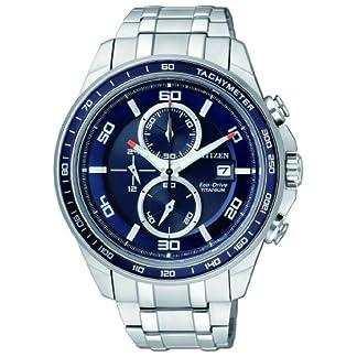 Reloj  cronógrafo Citizen Super Titanium para Hombre,   correa de titanio, Plateado, CA0345-51L