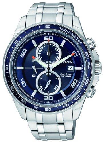 Citizen Herren-Armbanduhr XL Super Titanium Chronograph Quarz Titan CA0345-51L