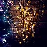 20 LED Baum Licht Stehleuchte Weihnachten Faltbare Lichterkette 77 CM / 33 inch Batteriebetriebene Startseite Hochzeit im Freien Weihnachtsdekor Warmweiß