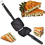Starvin Silver Touch Non-Stick Aluminium Gas Toaster Cum Sandwich Maker || Black || A-507