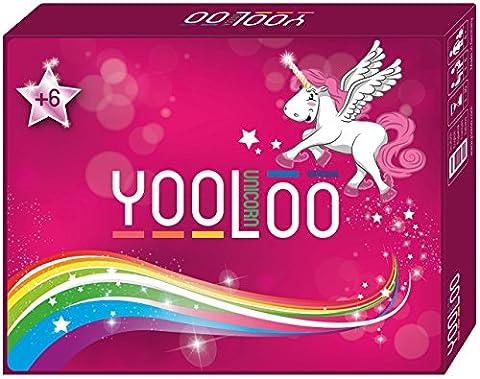 YOOLOO Unicorn - Das coole Kartenspiel als Einhorn-Edition (2 bis 8 Personen, 2 Spielvarianten)