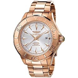 Invicta 7111 47mm Automatic Rose Gold Steel Bracelet & Case flame fusion Men's Watch