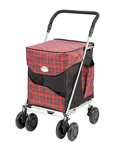 Original Sholley Deluxe 'Balmoral' Faltbare Einkaufstrolley, Einkaufswagen mit Rädern, Einkaufsroller klappbar. Handwagen, Einkaufstache aüf Rädern, 4 Räder, 6 Räder