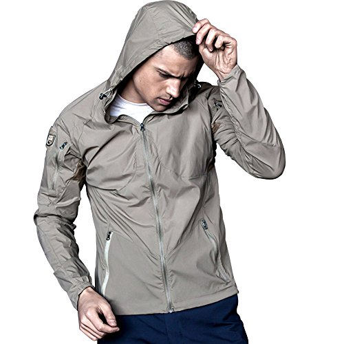 Free Soldier Outdoor Herren atmungsaktiv Sun Block Kleidung Sommer UV-Haut Fell Grau