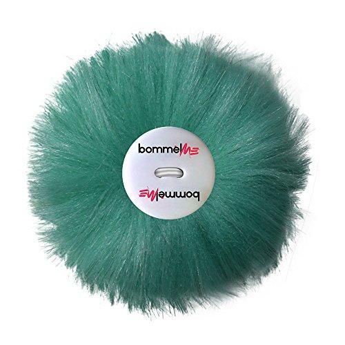 bommelME Pelz Wechselbommel aus Kunstpelz mit Knopf für alle bommelME Beanies und Anhänger, Farbe: Mint (Tägliche Mint Pflege)