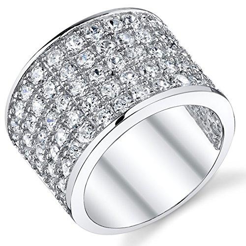 Ultimate Metals Co Herren-Ring im Meisterschaftsring-Design von David Beckham Sterling-Silber 925 Zirkonia 15mm