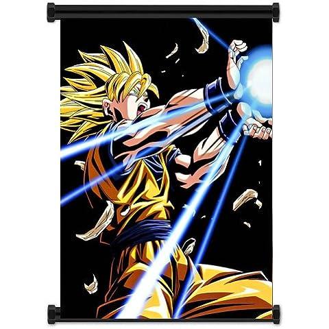 1x Dragon Ball Z Super Saiyan Goku Anime de tela Póster de desplazamiento de pared (16x 21) inches