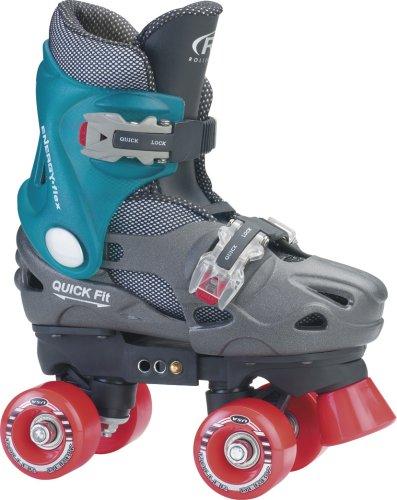 Roller Derby Trac Star Youth Boy 's verstellbarer Roller Skate, Jungen, schwarz / blau