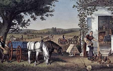 Currier and Ives – Farm and Fireside Kunstdruck (60,96 x 91,44 cm) (& Currier Fine Art Ives)