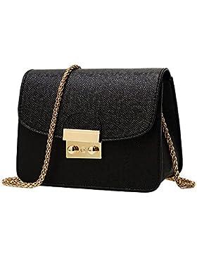 1 x Singolo sacchetto di spalla per le donne – Borsetta PU Impermeabile / Body Bag Croce Moda con la Catena per...