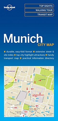 Munich City Map - 1ed - Anglais par Lonely Planet LONELY PLANET