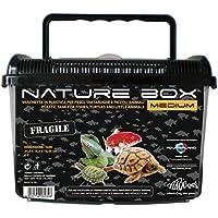 ReptiZoo 2.3.79.002 Haquoss Nature Box Medium, 23.5X15.5X16.5H cm, 6 lt, Nero e Trasparente