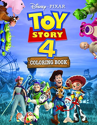 Toy Story 4 Coloring Book: Toy Story 4 Jumbo Coloring Book With High Quality Images For All Ages Based On 2019 Cartoon(Unofficial)