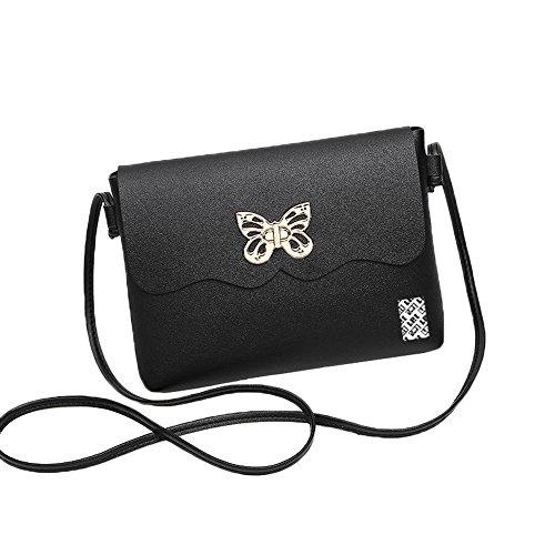 LefRight Gros Geräumig Schmetterling PU-Leder Mini Schultertasche Umhängetasche Handtasche Kleine Crossbody Beutel zum iPhone X, 6 Plus, 7 Plus, Samsung S6,S7,S8, J3,J7,J5