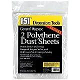 4 Polythene Dust Sheets 9x12 feet/2 packs of 2