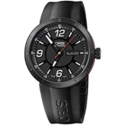 Oris TT1 Williams Automatic Black DLC Coated Steel & Rubber Mens Watch Day-of-Week & Date 735-7651-4764-RS
