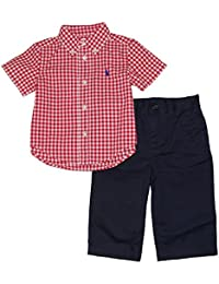 f4bc18362a1a3 Ralph Lauren Polo Baby Boys Gingham Shirt amp; Chino Pants Set (9 Months)