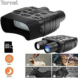 """Binoculares de visión Nocturna Alcance de Caza infrarrojo Digital HD, Imagen 1080Py Video 720Py cámara IR de Pantalla LCD de 2.31""""en 400m para Vida Salvaje (Incluye una Tarjeta TF de 32GB)"""
