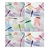 wandaufkleber wandtattoos Ronamick 10er Aufkleber Mauer Sticker Home Dekorationen 3D Libelle Regenbogen Wandtattoo Wandaufkleber Sticker Wanddeko (Multicolor)