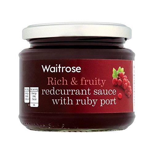 Sauce Groseille Avec Ruby ??Port De Waitrose 215G - Paquet de 2