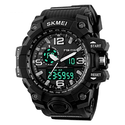 SKEMI Analogue Digital Black Dial Sports Watch for Men and Boys MW0148