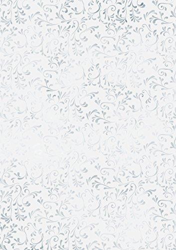 "Heyda 204879551 Transparentpapier (\""Roma\"" DIN A4, 21 x 31 cm, 115 g/qm) silber"