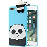 upxiang iPhone 6/6Plus/6S/6S Plus/7/7Plus Funda, 3d dibujos animados animales Cute Bare osos suave silicona caso piel cubierta para iPhone6/6S/7(4,7/5,5pulgadas), color azul